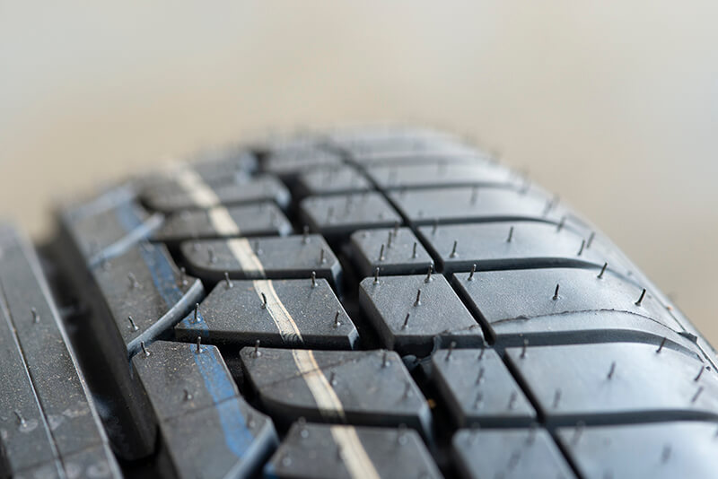 Noranda Service Centre Gallery Images - Brand New Car Tyre with Threads and Tiny Rubber Hairs