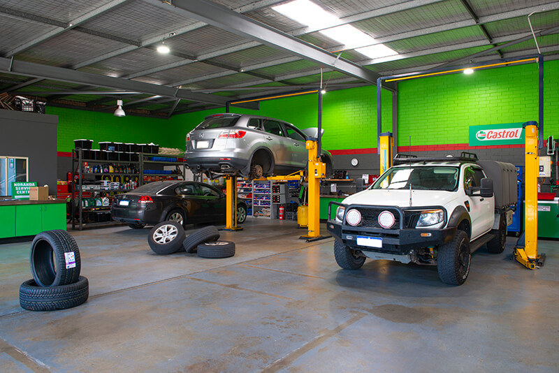Noranda Service Centre Gallery Images - Car Workshop and Showroom with Car Serviced