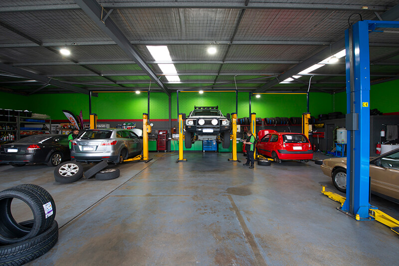 Noranda Service Centre Gallery Images - Full View of the Workshop Interiors from the Front