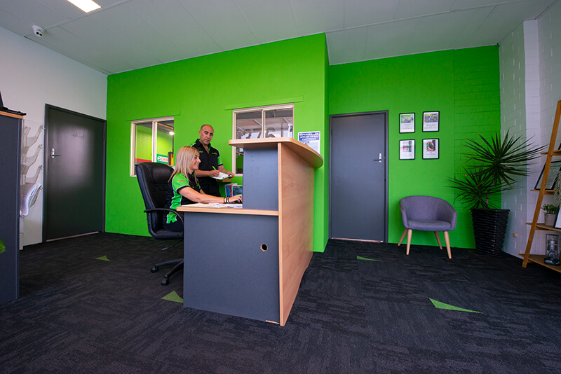 Noranda Service Centre Gallery Images - Noranda Service Centre Office and Lounge with Mechanic and Office Staff